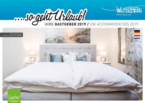 Die Titelseite des Gastgeberverzeichnis Winterberg 2019