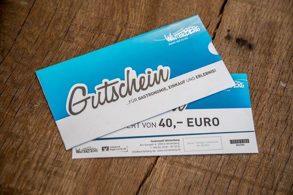Geschenkgutschein der Ferienwelt Winterberg im Wert von 40,00 €