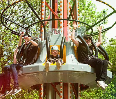 Crash im Fort Fun Abenteuerland bewegt sich rasant nach unten.